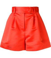 styland flared high-waisted shorts - orange