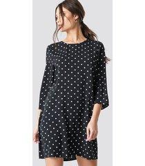 na-kd polka dot print ruffled mini dress - black