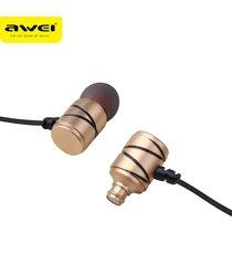 audífonos bluetooth manos libres inalámbricos, 910ty auriculares estéreos atados con alambre atados con alambre de la música del en-oído de los auriculares (oro)