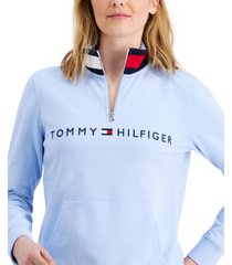 tommy hilfiger mock-neck pullover top