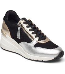 woms lace-up sneakers skor svart tamaris