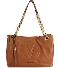 verra sauvage quilted logo leather tote