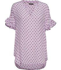 viona blouse korte mouwen roze stella nova