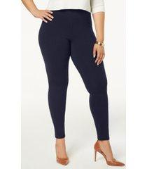 hue women's plus size cotton leggings, created for macy's