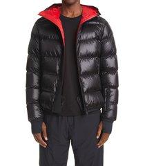 men's moncler grenoble hintertux water repellent down puffer jacket, size 7 - black