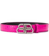 balenciaga bb thin belt - pink