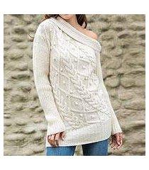 100% alpaca sweater, 'diamond dreams' (peru)