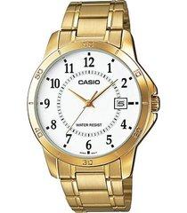 reloj casio mtp_v004g_7b dorado acero inoxidable