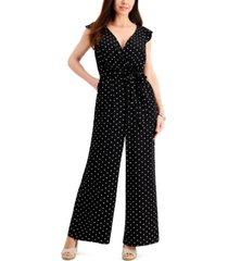 charter club polka-dot sleeveless jumpsuit, created for macy's