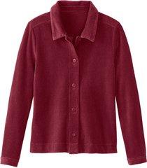 blouse van geribde jersey van bio-katoen, vino 40