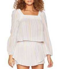bcbgeneration striped square-neck top