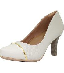 zapato blanco comfortflex clásico