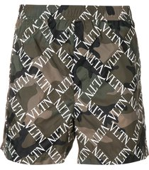 valentino vltn camouflage swim shorts - green