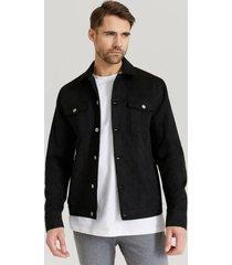 jacka fake suede trucker jacket