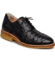shoes - flat snörade skor låga svart angulus