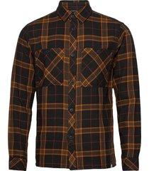6200712 sdmik ls check skjorta casual brun solid