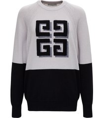 givenchy cashmere bicolor sweater with logo