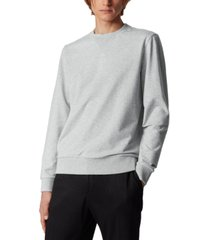 boss men's stadler 37 open grey sweatshirt