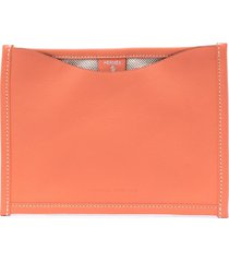 hermès pre-owned flaneur forever flat pouch - orange