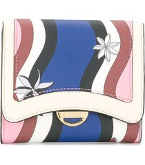 emilio pucci abstract print wallet - blue