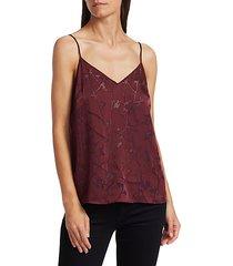 burnout silk-blend camisole top