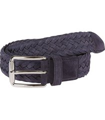 blue suede belt
