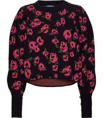 flowerbombcras knit stickad tröja svart cras