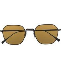 giorgio armani oversized rectangle frame sunglasses - black
