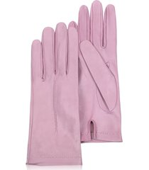 forzieri designer women's gloves, women's candy pink unlined italian leather gloves