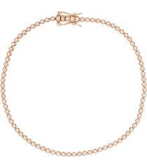 18kt rose gold diamond tennis bracelet