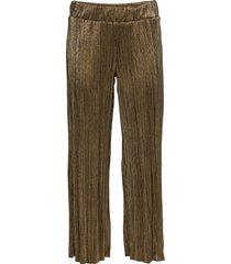 pantaloni lucidi plissettati (oro) - bodyflirt