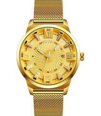 los hombres de negocios skmei reloj de cuarzo de moda casual auténtico reloj de hombre macho / banda de acero reloj de cuarzo reloj mecánico