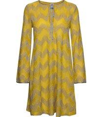 m missoni dresses knälång klänning gul m missoni
