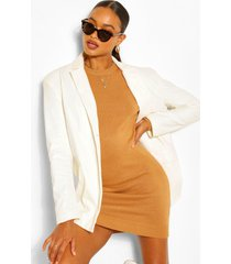 balloon sleeve knitted dress, camel