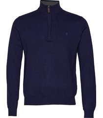 12gg 1/4 zip sweater knitwear turtlenecks blå izod