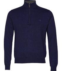 12gg 1/4 zip sweater knitwear turtlenecks blå izod
