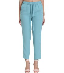red valentino pants in cyan cotton