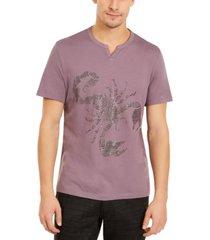 inc men's beaded split neck t-shirt, created for macy's
