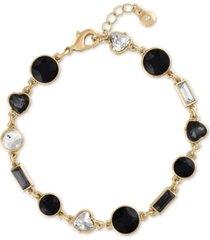 rachel rachel roy gold-tone crystal & stone flex bracelet