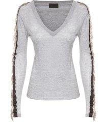 camiseta feminina ilhéus ab - cinza