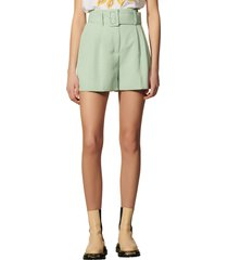 sandro belted waist shorts, size 4 us in argyle at nordstrom