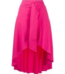 fisico tie-wait flared skirt - pink
