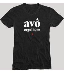 camiseta avã´ orgulhoso reserva preto - preto - masculino - dafiti