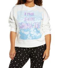 plus size women's bp. organic cotton sweatshirt, size 1x - white