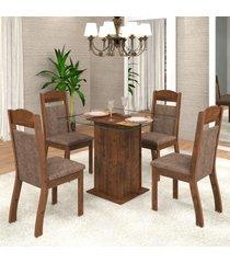 mesa de jantar 4 lugares mirela zara dover/malta - viero móveis