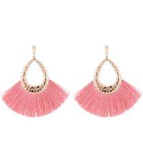 aretes flecos rosados sasmon ar-11706