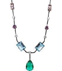 colar la madame co maxi colar multicolorido - multicolorido - feminino - dafiti