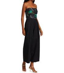 rachel comey women's tillson strapless jumpsuit - black multi - size 2