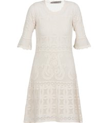 d.exterior embroidered midi dress