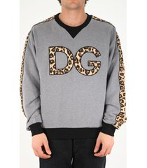 dolce & gabbana dg animalier print sweatshirt